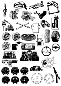 Auto Theme Illustration Vectors Free Vector Cdr
