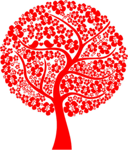Abstract Love Tree Vector Free Vector Cdr