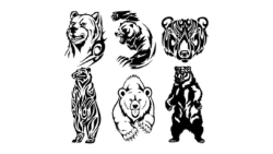 Tribal Bear Vector art Free Vector Cdr