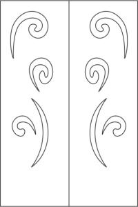 Elegant Wardrobe Door Design Vector Free Vector Cdr