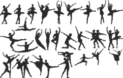 Ballet Dancer Silhouette Vector Set Free Vector Cdr