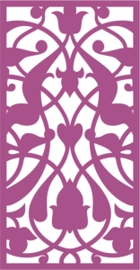 Design of laser cut floral screen Free Vector Cdr