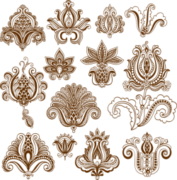 Vector mehndi designs Free Vector Cdr