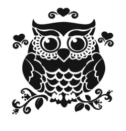Owl On Branch Silhouette Free Vector Cdr