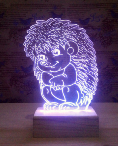 Sitting Hedgehog 3D Lamp Vector Model Free Vector Cdr