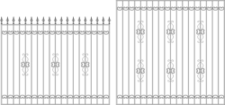 Wrought iron Railing Free Vector Cdr