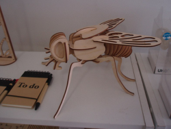 Fly 3D Woodcraft Hobby Wooden Model Laser Cut Free Vector Cdr