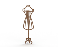Mannequin MDF Dress Form Laser Cut 6mm Free Vector Cdr