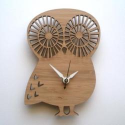 Laser Cut Owl Shape Clock Free Vector Cdr