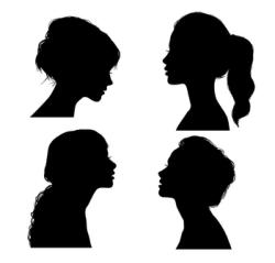 Girl Silhouette Vector Free Vector Cdr