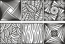 Ornament Pattern Set Free Vector Cdr