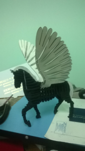 Winged Horse 3D Puzzle Free Vector Cdr