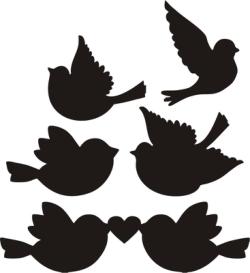 Love Birds Silhouette Vectors Free Vector Cdr