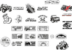 Off Road Stickers Pack Free Vector Cdr