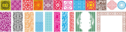 Grille Pattern Vectors Set Free Vector Cdr