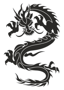 Chinese Dragon Silhouette Tattoo Tribal Vector Free Vector Cdr