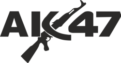 AK 47 guns Wall Art Sticker Vector Free Vector Cdr