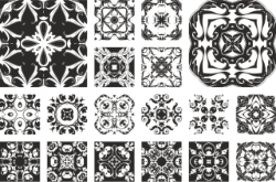 Floral Ornament Set Free Vector Cdr