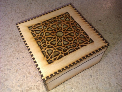 Laser Cut Islamic Box Free Vector Cdr