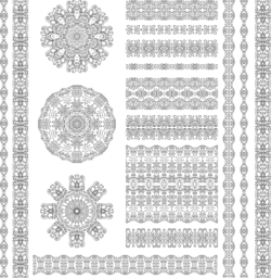 Ethnic Pattern Set Free Vector Cdr