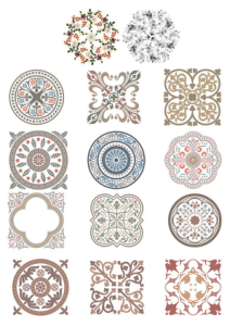 Vintage Ornaments Vector Set Free Vector Cdr