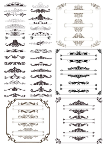Decor Elements Collection Free Vector Cdr