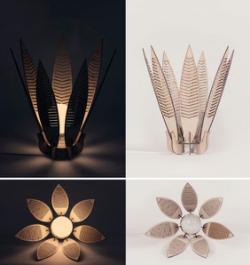 Decorative Flower Lamp Shade Laser Cut Free Vector Cdr