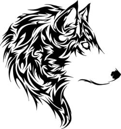 Wolf Stencil Vector Free Vector Cdr