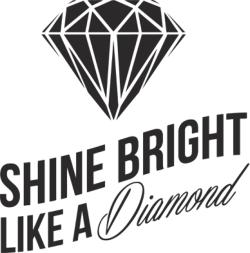 Shine Bright Like A Diamond Sticker vector Free Vector Cdr