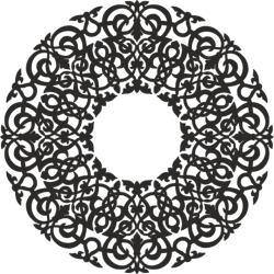 Round Abstract Pattern Free Vector Cdr