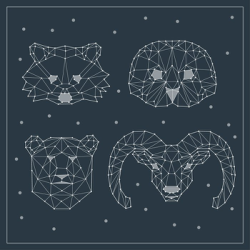 Polygonal Animals Free Vector Cdr