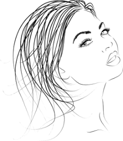 Beautiful woman outline Vector Clip Art Free Vector Cdr