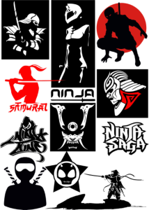 Ninja Vectors Art Pack Free Vector Cdr