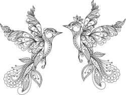 Ornament Birds Vector Free Vector Cdr