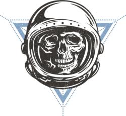 Cosmo Skull Print Free Vector Cdr