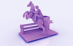 Horse Riding Pen Holder Stand 3mm Free Vector Cdr