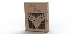Simple Laser Cut Wine Box Free Vector Cdr