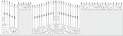 Iron Gate Vector Set Vector Art Free Vector Cdr