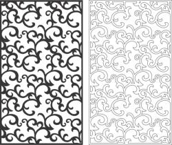 Seamless Screen Swirl Pattern Free Vector Cdr