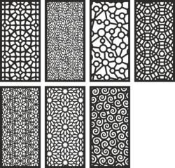 Screen Pattern Collection Free Vector Cdr