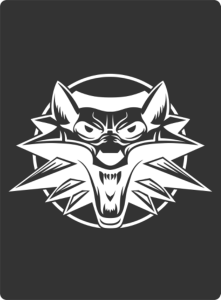 White Wolf Sticker Vector Free Vector Cdr