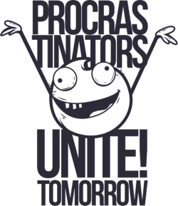 Procrastinators T Shirt Design Free Vector Cdr