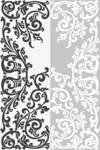 Abstract Floral Ornament Sandblast Pattern Free Vector Cdr