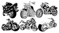 Motorcycle Club T-Shirt Design Free Vector Cdr