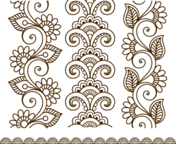 Henna Tattoo Mehndi Flower Template Vector Free Vector Cdr