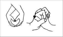 Sweet hands love Free Vector Cdr