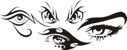 Tribal Eye Tattoo Car Stickers Free Vector Cdr
