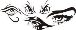 Tribal Eye Tattoo Car Stickers Free Vector Cdr