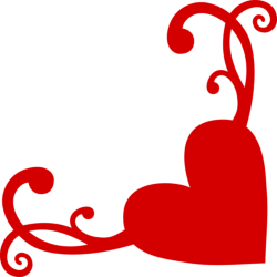 Heart Flourish Corner Free Vector Cdr
