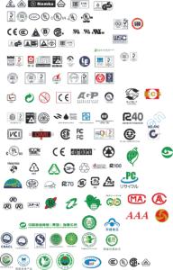 各类认证标志 Free Vector Cdr